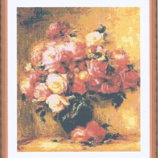 Bouquet of roses by Renoir