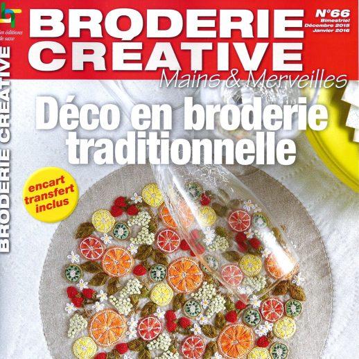 """""""Déco en broderie traditionnelle"""" N°66 des magazines Broderie Créative Mains et Merveilles aux éditions de Saxe."""