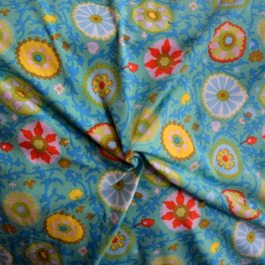 Jersey fleuri couture