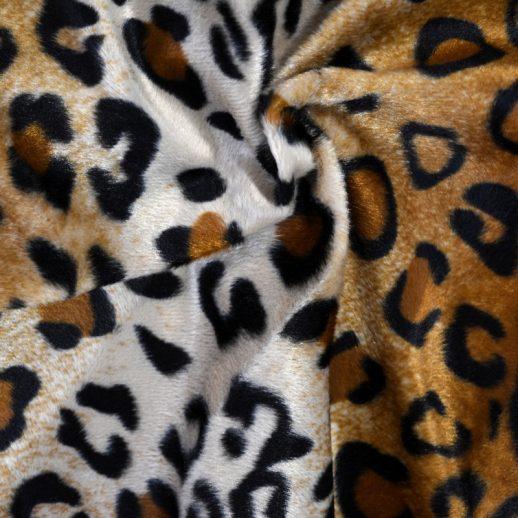 tissu imitation léopard