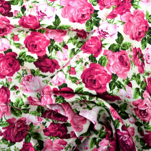 imprimé de roses