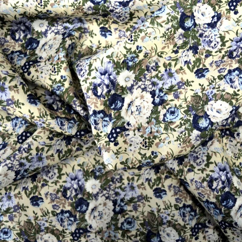 tissu coton fleuri