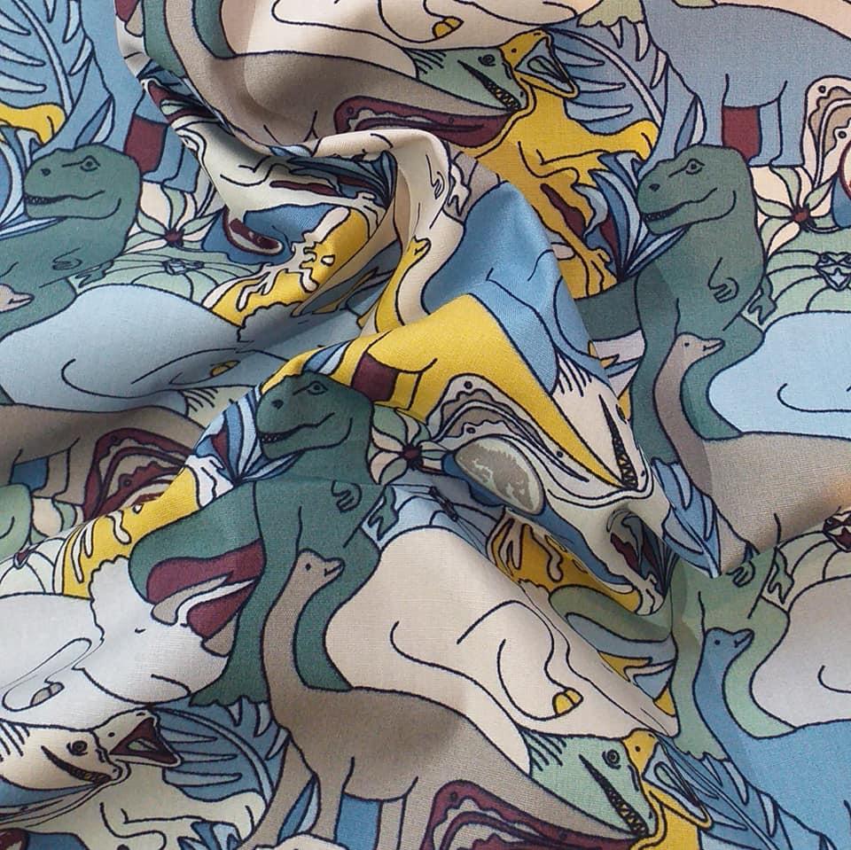 tissu dinosaures