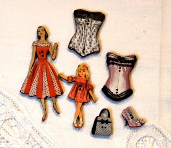 Bouton vintage fillette