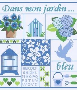 Dans mon jardin bleu